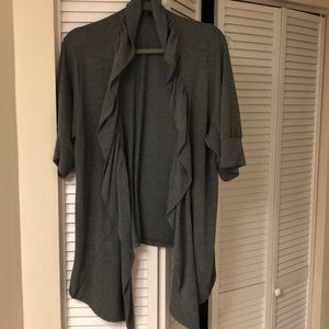 Sweaters - Charcoal gray open cardigan